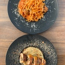 Wagyu Meatball Linguine & Chicken Roulade