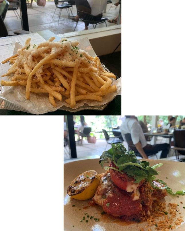 Truffle Fries & Chicken Parmigiano