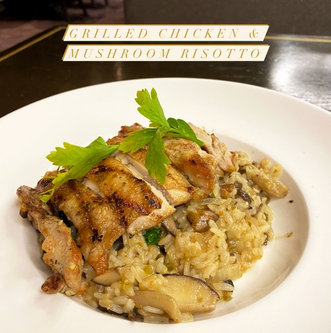 Grilled Chicken & Mushroom Risotto
