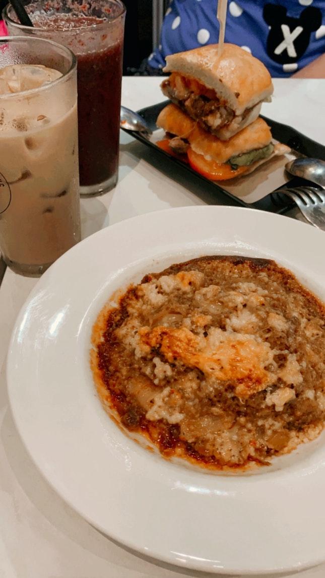 Charsiew Sandwich + Rendang lasagna