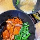 char siew dumpling tomato noodles ($7.80)