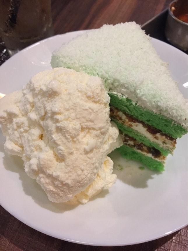 Onde-onde Cake With Ice-cream