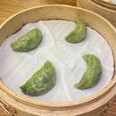steamed vegetarian dumplings ($6.50)