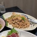 garlic fried rice ($7)