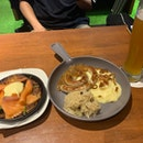 Rosti And Pork Sausage With Mash