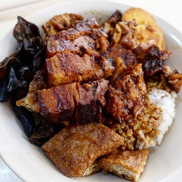 Braised Pork Rice -$3.50  A deceptively simple dish with great depth in flavour.