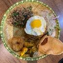 Basil Pork with Phad Thai