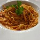 Spaghetti Vodka With Crabmeat