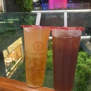 Lemon Green Tea With Aiyu Jelly & Smoked Plum Drink