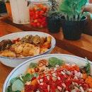grandma's roast ($16) & veganlicious bowl ($16)