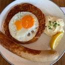 Original Rosti + Veal Bratwurst ($18)