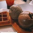 waffles and gelato