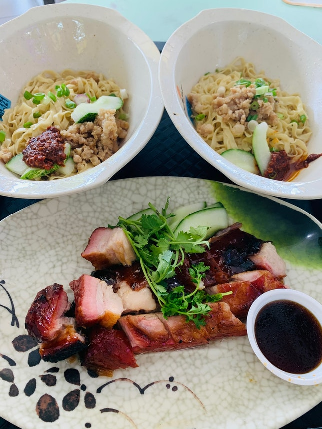 Char Siew With Hakka Noodles