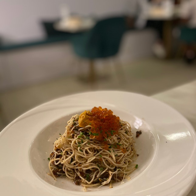 Uni truffle pasta ($28++)