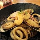 Seafood Cream Pasta