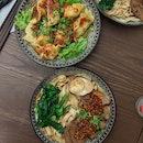 Beef Dinner Noodles with Dumplings
