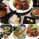 魚介鉄板焼き膳 Gyokai Teppanyaki Set  Seafood, steak and sautéed vegetables served with appetizer, steamed egg custard, mini tempura, rice, miso soup and dessert #japanese #Omakase #beef #seafood #food #instafood #foodporn