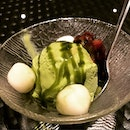 Matcha Ice Cream With Riceball~