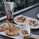 Fish Tacos And Pork Quesadilla