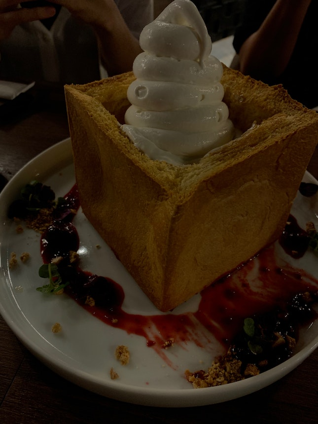 Honey Toast with Soft Serve