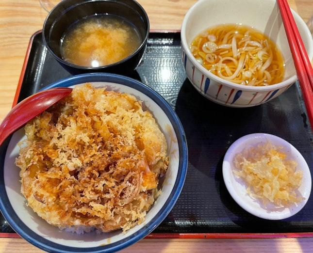 Kakiage Tendon & Hot Udon Set