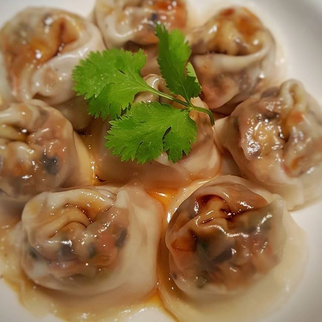 Steamed Dumplings .