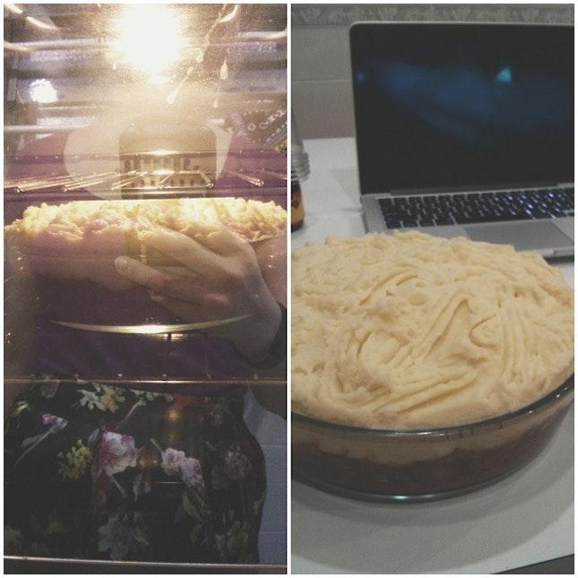 Homemade shepherd's pie tonight.
