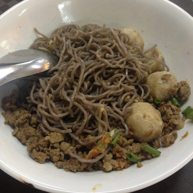 Seaweed Mined Meat Noodles