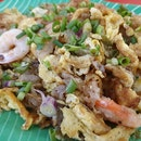Fried Prawn Omelette