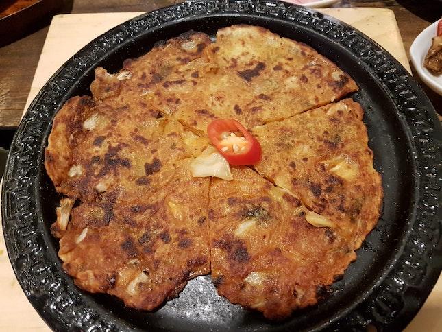 Vegetarian Kimchi Pancake