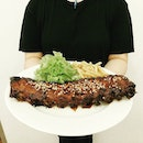 (Food Tasting: Happenstance Cafe) On hand: BBQ Pork Ribs!🍴 One of the main dish in Happenstance Cafe, BBQ Pork Ribs, $25!