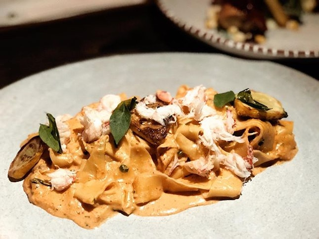 I was being introduced to a new variety of pasta — Pappardelle.