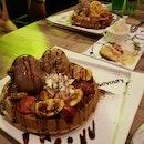 Ice Cream, Waffles And Lava Cakes