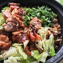 Claypot chicken rice.