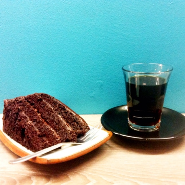 Valrhona Chocolate Cake & Bolivia Pourover
