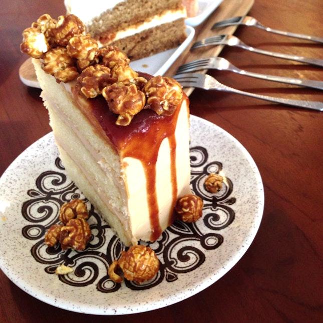 Popcorn Caramel Cake