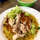 Roast chicken noodle  _ For any good egg noodles, a plain soy sauce and oil will bring out quality of the noodle.