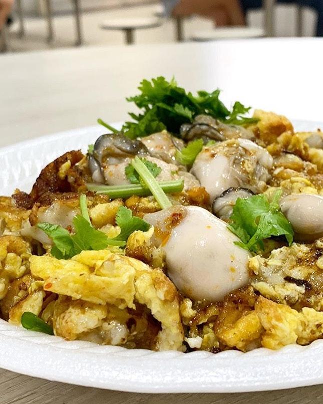 Teochew style Oyster Omelette  _ Gooey, wetter.