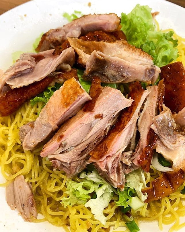 Charcoal Roasted Duck with noodle _ One of the best charcoal roasted duck in town.