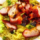 Charcoal grilled Char Siu noodles  _ Good egg noodles with no trace of alkaline.