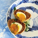 Lamb Merguez Scotch Egg is now available on @lollasg takeout/delivery menu.