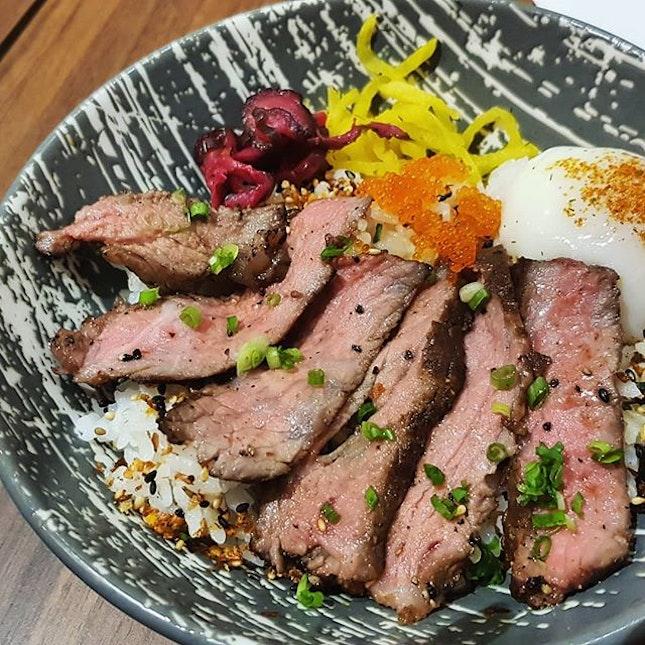 A very unfulfilling $18.90 wagyu steak bowl (before #burpplebeyond).