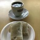 Kopi o and kayabutter toast ($2.20)