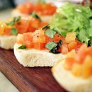 Bruschetta is ❤️ Mainly because I am a fan of tomato 🍅 #throwback