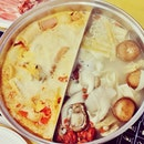 It's a hot, steamy & sweaty affair at Zhong Hua Steamboat but it is exactly what we need on a rainy day like this.