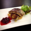 Pan-fried foie gras ($16) with toasted brioche and cranberry compote.
