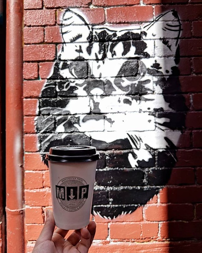 @manchesterpress, tucked away in the corner of the streets of the CBD area in Melbourne, great place to chill and have a cuppa for that midday fix and hide away from all that hustle bustle.