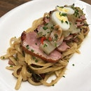Green Curry Lychee Duck Linguine from Five Marbles Craft Beer Restaurant (Rendezvous Hotel, Dhoby Ghaut).