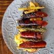 Asparagus & Grilled Chorizo with Scrambled Eggs on Sourdough Toast from Firebake (@firebakesg).