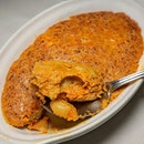 Otak Otak Makalan Laut (fish, squid and prawn in a rich spicy paste) from PeraMakan (@peramakansg).